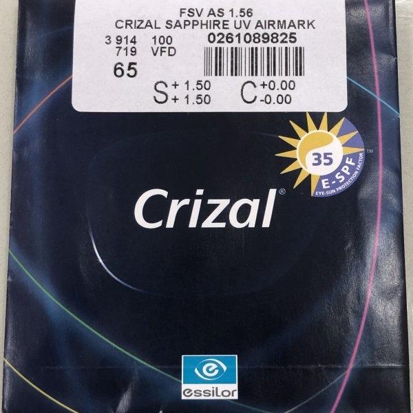 Essilor Crizal® Sapphire™ UV