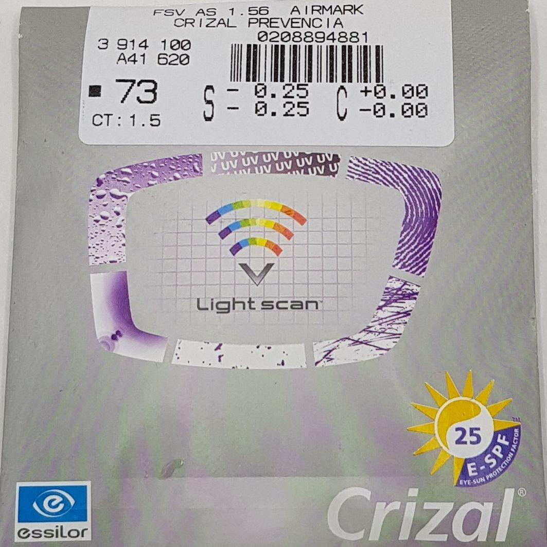 Essilor Crizal Prevencia 1.5 AS ( Blue Block )