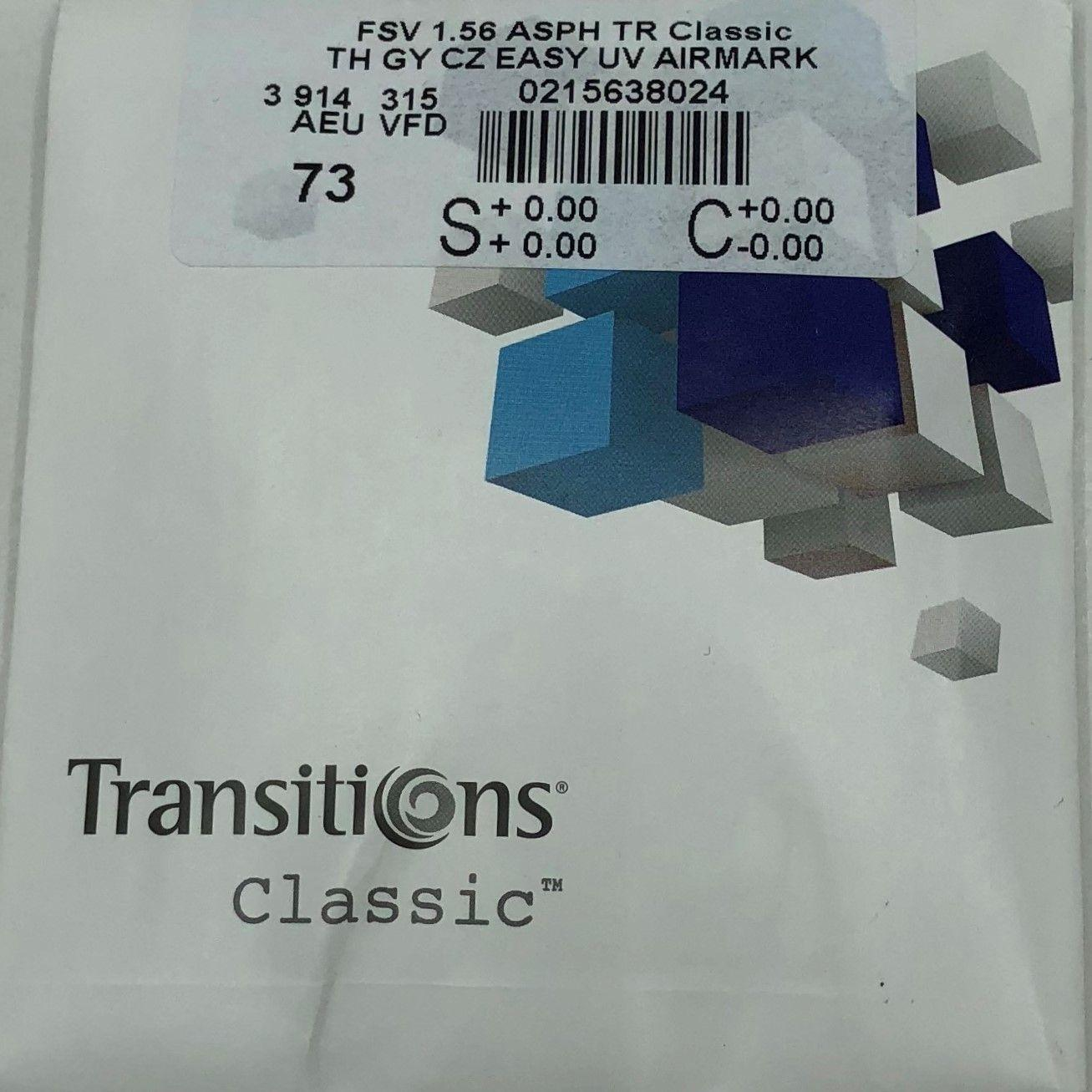 Essilor 1.56AS Transitions Classic Grey