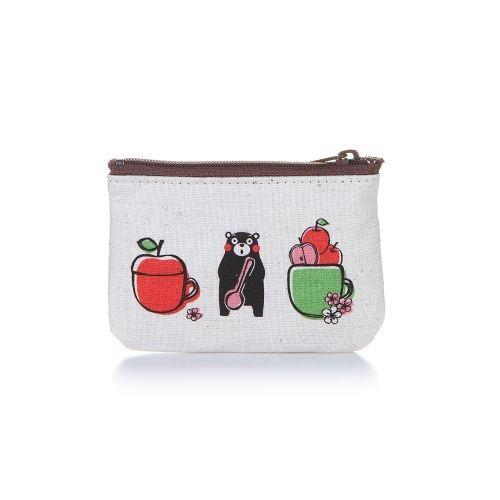 KUMAMON Zip Linen Purse S | กระเป๋าซิป ผ้าลินิน ไซส์ S