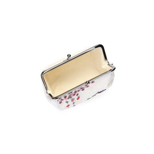 KUMAMON Cylinder Linen Purse | กระเป๋าทรงกระบอก ผ้าลินิน