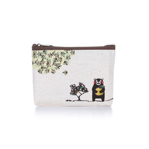 KUMAMON Linen Zip Purse M | กระเป๋าซิป ผ้าลินิน ไซส์ M