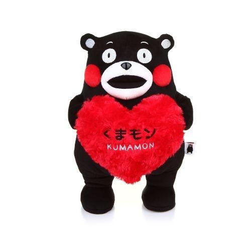"KUMAMON 3D Holding Heart Plush 12"" | ตุ๊กตา 3D 12"" รุ่นถือหัวใจ"
