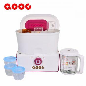 QOOC รุ่น 5in1 เครื่องนึ่งและปั่นอาหารสำหรับเด็กและทารก