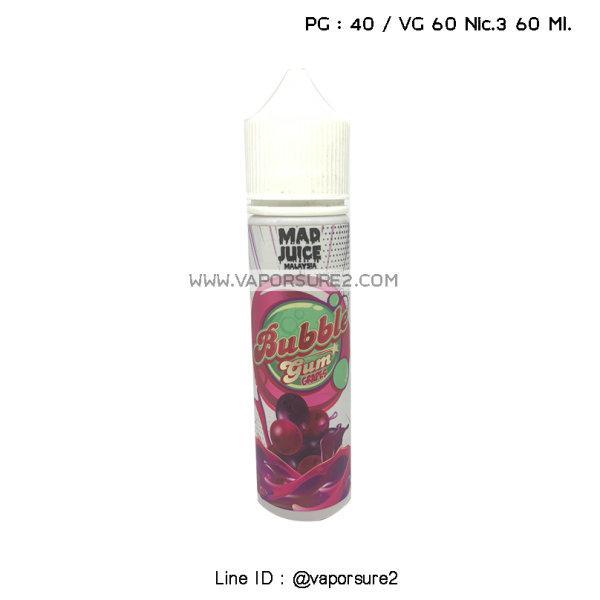 Mad Juice Bubble Grape Nic.3 60 Ml. PG40/VG60
