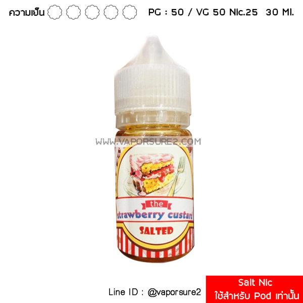 Salt Nic - The Strawberry Custard 50PG/50VG 30 Ml. Nic 25