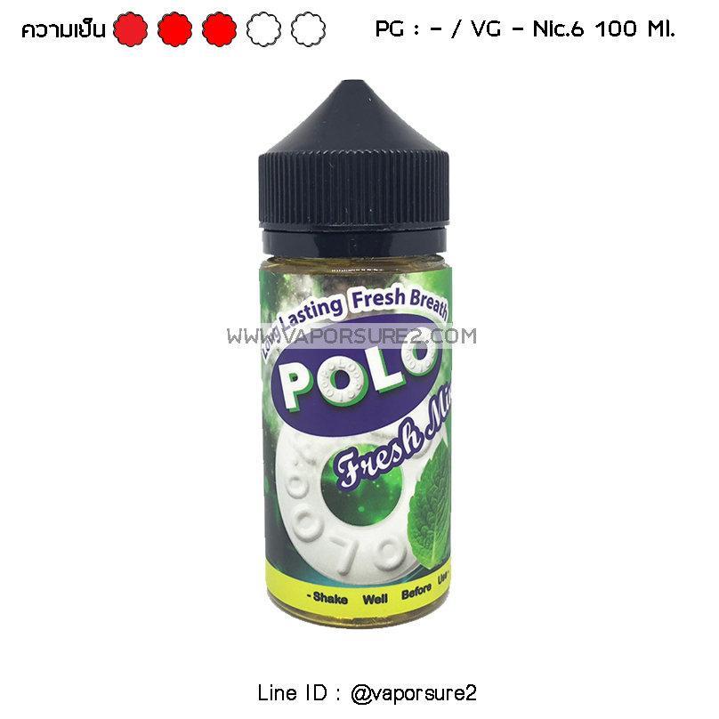 เย็น Polo Fresh Mint 100 Ml. Nic.6 -PG/-VG