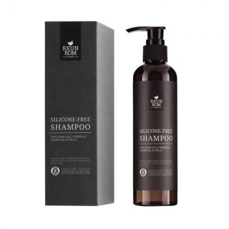 Silicone-Free Shampoo Anti-Hair Fall Formula Charcoal & Phlai 250ml Reunrom