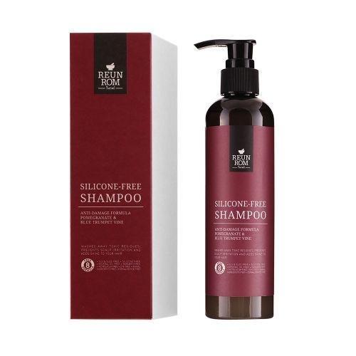 Silicone-Free Shampoo Anti-Damage Formula Pomegranate & Blue Trumpet Vine 250ml Reunrom
