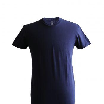 Round Neck T-shirt: Navy Blue