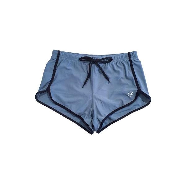 Swim Shorts: Grey/Black Trim