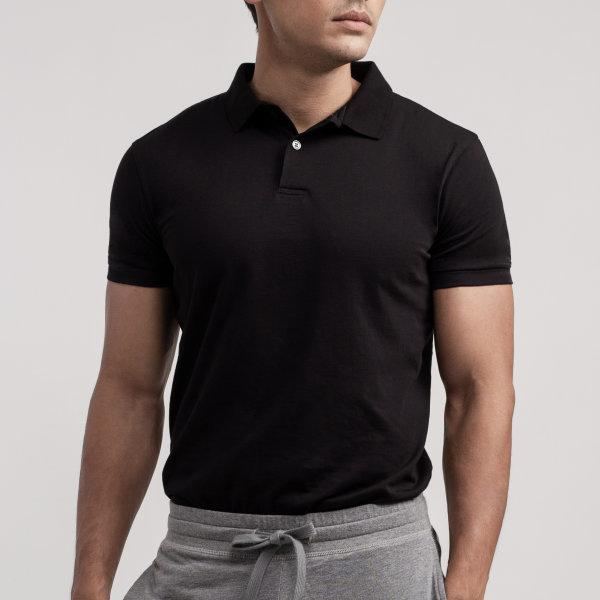 Polo T-shirt: Black