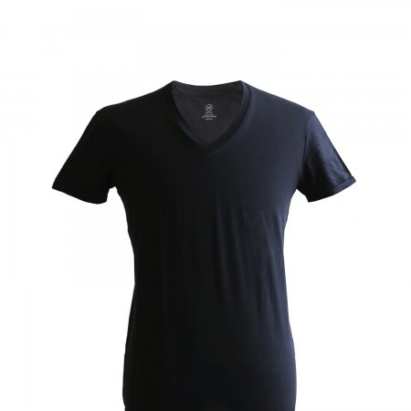 V-neck T-shirt: Black