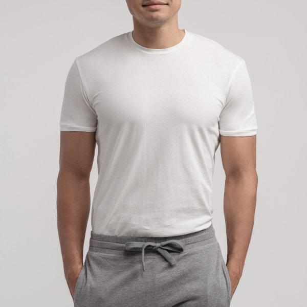 Round Neck T-shirt: White