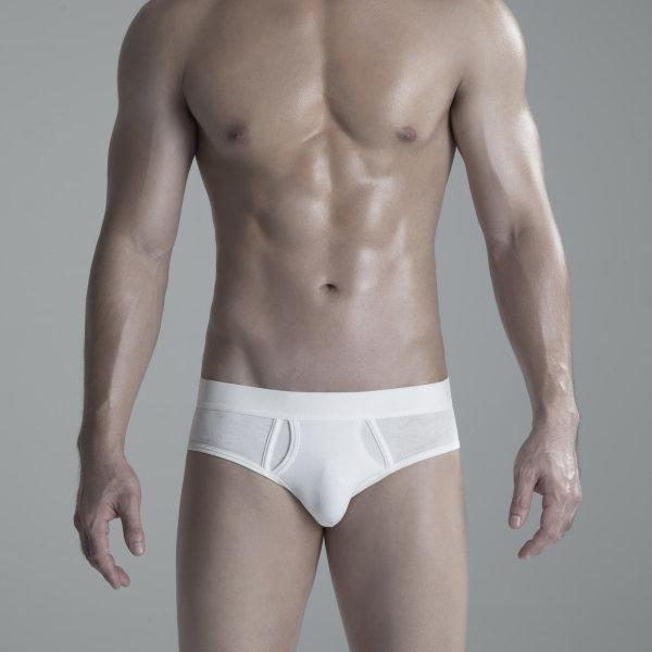 Briefs Underwear: White