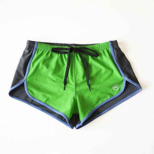 Swim Shorts: Green/Grey/Blue