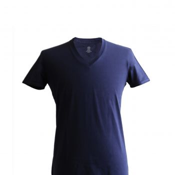V-neck T-shirt: Navy Blue