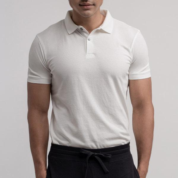 Polo T-shirt: White