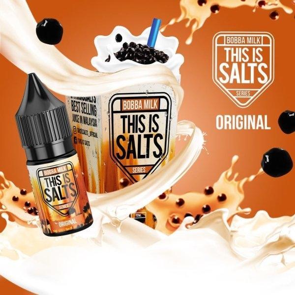 This is Salts Bobba Milk - Original กลิ่นชานมไข่มุก 30Ml 35mg