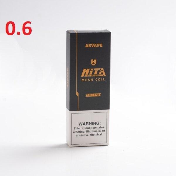 Pod/Coil สำหรับ Asvape Hita pod/Hita Ink mesh 0.6ohm ราคาต่อ1ตัว/กล่อง5ตัว