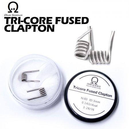Ohm Science - Tricore Fused Clapton (Handcrafted coils) ลวดเอเลี่ยนพันมือ(ปั่น) พร้อมสำลี