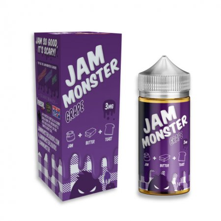 JAM MONSTER – GRAPE 100ml 3mg (USA)