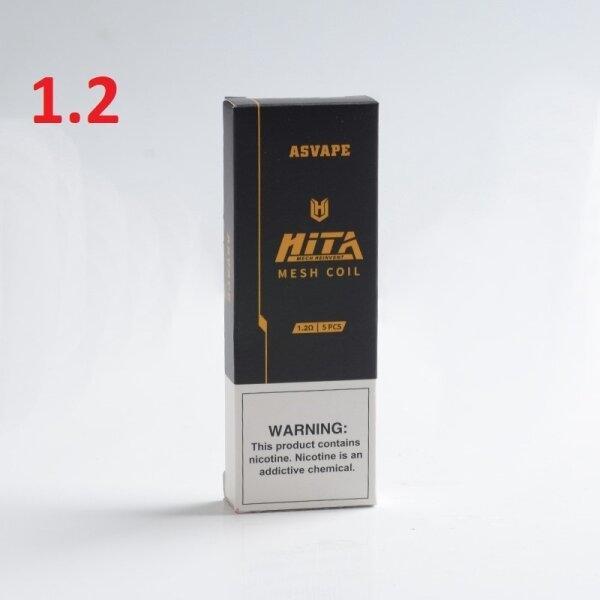Pod/Coil สำหรับ Asvape Hita pod/Hita Ink MTL 1.2ohm ราคาต่อ1ตัว/กล่อง5ตัว