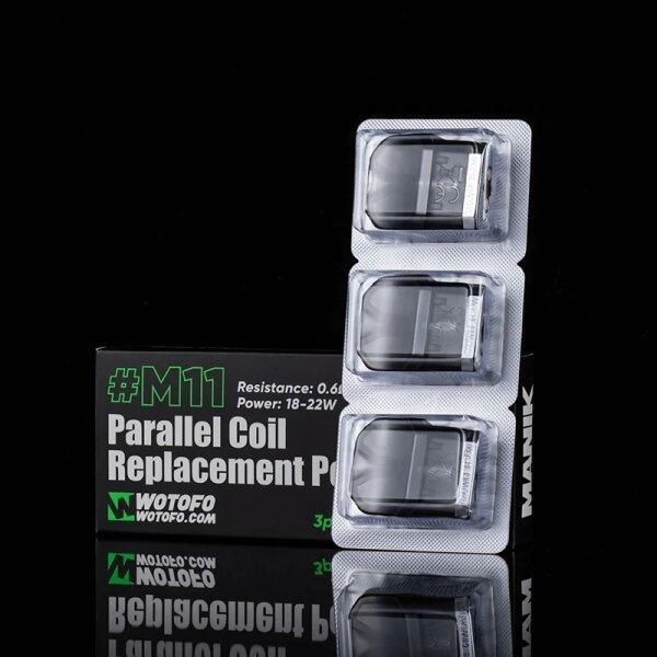 Pod/Coil ของ Manik Mini M11 0.6ohm Parallel แท้ ราคากล่อง3ตัว (Wotofo)