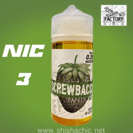 The Steam Factory - Screwbacco Menthol 100ml 3mg (USA)