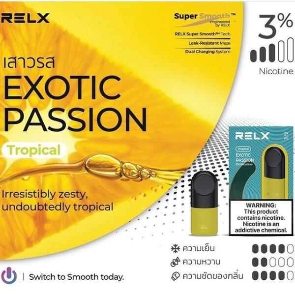RELX Pod Pro (Infinity,Essential) - Exotic Passion(เสาวรส) 2ml Nic3% กล่อง1ตัว