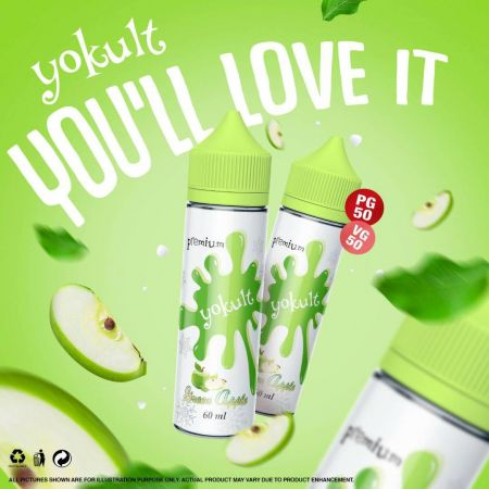 Premium Yokult- Green Apple 60Ml 3mg