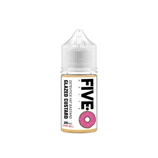Five-0 Salt nic - Detective Fat Bastard(Donut Glazed Custard) (USA) แท้ 30ml 25mg/45mg