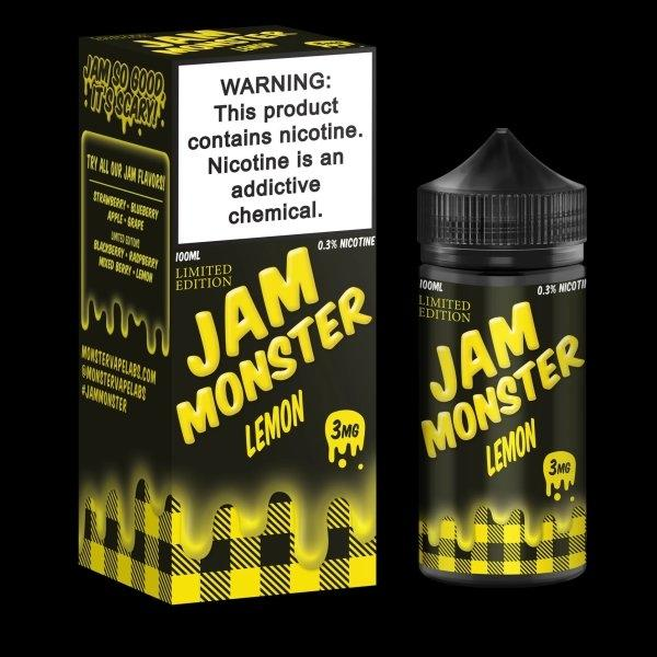 JAM MONSTER – LEMON 100ml 3mg (USA)