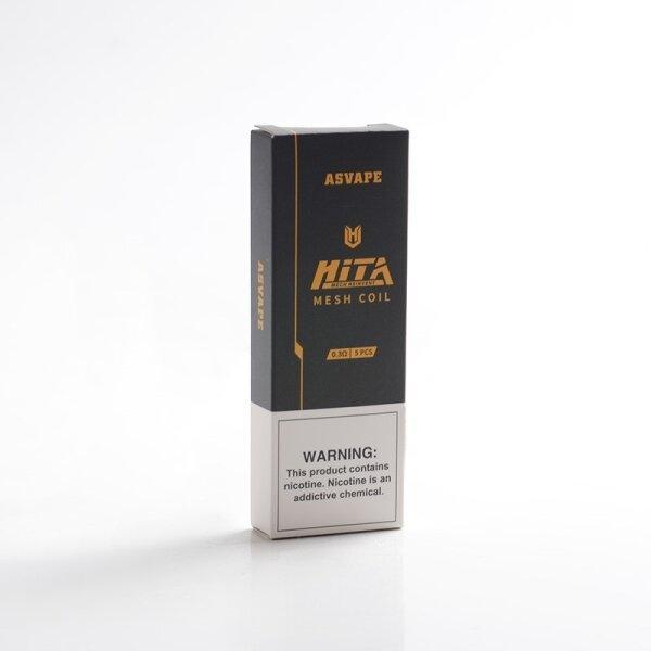 Pod/Coil สำหรับ Asvape Hita pod/Hita Ink mesh DTL 0.3ohm Mesh ราคาต่อ1ตัว/กล่อง5ตัว