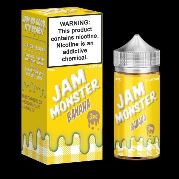 JAM MONSTER – BANANA 100ml 3mg/6mg (USA)