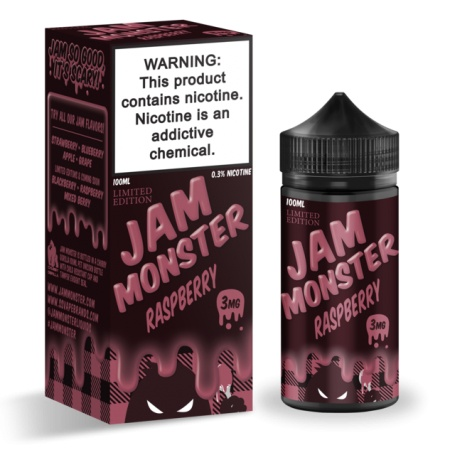 JAM MONSTER – RASPBERRY 100ml 3mg (USA)