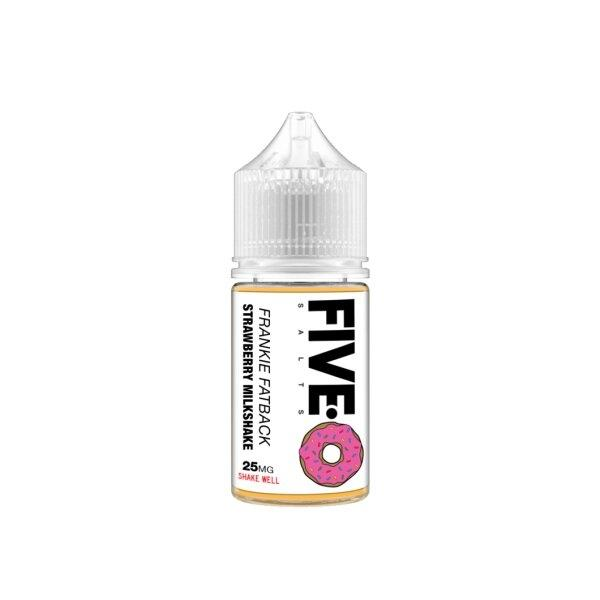 Five-0 Salt nic - Frankie Fatback(Strawberry Milkshake) (USA) แท้ 30ml 25mg/45mg