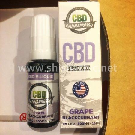 CBD Vape juice 300mg - Grape blackcurrant องุ่นแบล็กเคอเร้นจ์15ml by CANNAPRESSO USA