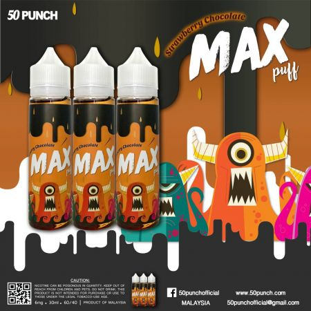 50 Punch Max puff - Strawberry Chocalate 60ml 6mg