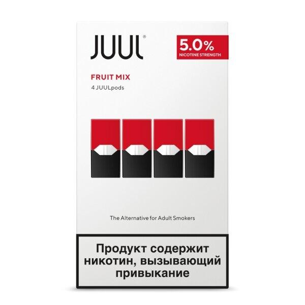 JUUL Pods - FRUIT MIX 5% (ผลไม้รวม grapes, peaches, and berries) กล่องละ4ตัว แท้USA