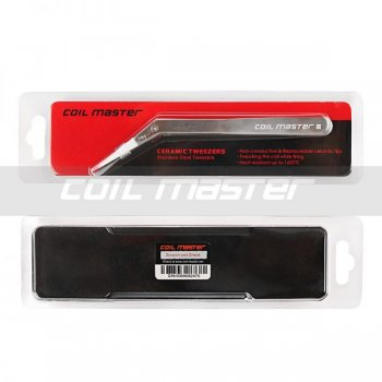 Coil Master Ceramic Tweezers (Bent) แบบโค้ง