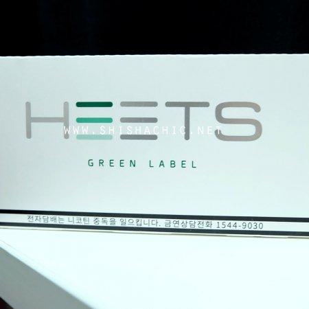 IQOS HEETS - GREEN Label (เย็น) แบบคอตตอน200ตัว