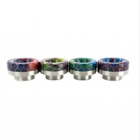 Drip Tip810 asMODus Stainless Steel ฐานเงิน BubbaComb(No ORING)