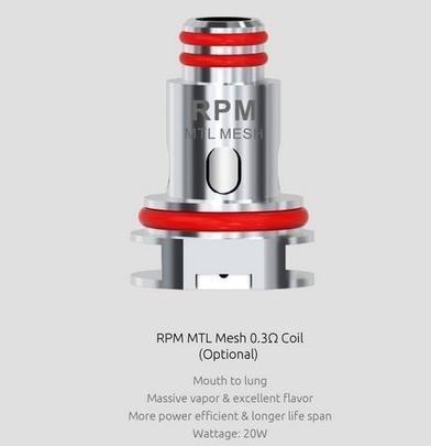 Pod/Coil สำหรับ Smok RPM 0.3 MTL Mesh แท้ ราคาต่อตัว/กล่อง