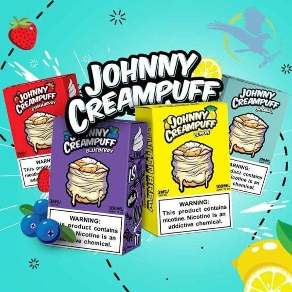 Johny Creampuff –  มีให้เลือก4กลิ่น 100ml 3mg (USA)