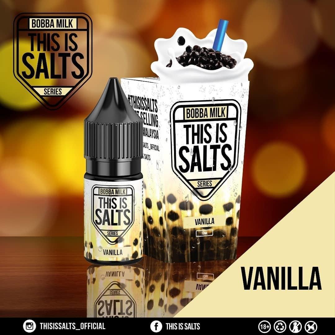 This is Salts Bobba Milk - Vanilla Bobba กลิ่นวนิลาไข่มุข  10Ml 35mg