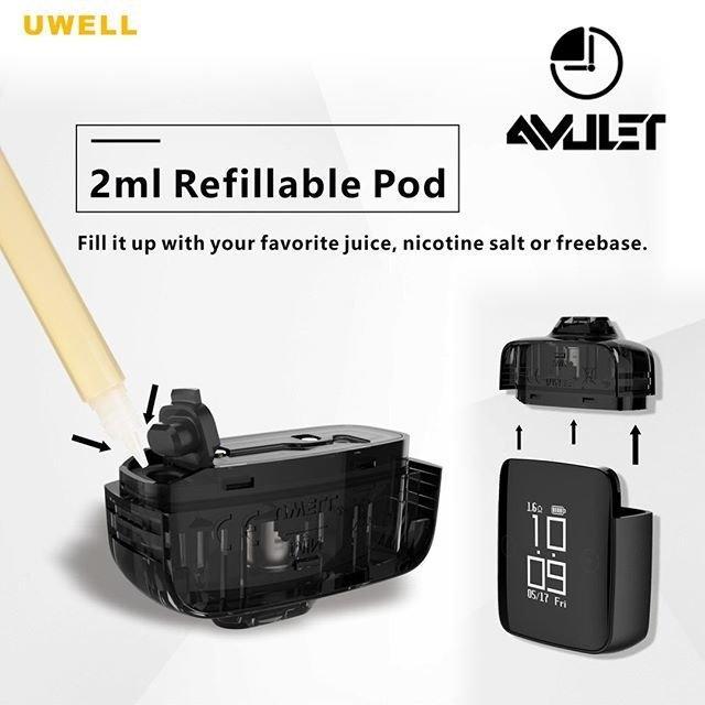 Pod สำหรับ Uwell Amulet 2ML ราคายกแผง2ตัว