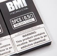 Pod/Coil สำหรับ BMI MICRO Mesh 0.5 ohm แท้ ราคาต่อตัว/กล่อง
