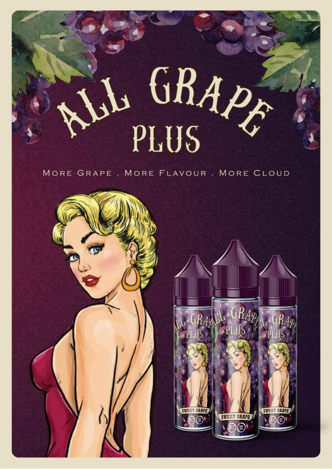 All Grape plus - Sweet grape 60ml 3mg