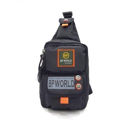 BP WORLD กระเป๋าสะพายคาดอก รุ่น B6299 (สีดำ)